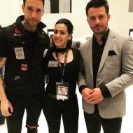 Ο Γιώργος με το μοντέλο Γιώργο Καβακάκη και την Ηλιάνα Λέκκα στην 23η Athens Xclusive Designers Week - 29 Μαρτίου 2018 Φωτογραφία: ilianna_lekka_nails Instagram