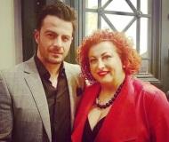 Ο Γιώργος με τη Ρούλα Καρπουζλή στην 23η Athens Xclusive Designers Week - 29 Μαρτίου 2018 Φωτογραφία: roulakarpouzli Instagram
