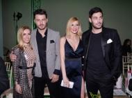 Ο Γιώργος Αγγελόπουλος μαζί με τη στυλίστρια Έλενα Γεραρχάκη και τον Κώστα Μαρτάκη στην 23η Athens Xclusive Designers Week στο Ζάππειο - 29 Μαρτίου 2018 Φωτογραφία: TLife