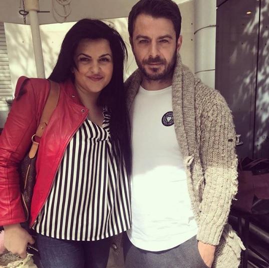 Ο Γιώργος μαζί με την υπεύθυνη και ιδιοκτήτρια της εταιρίας La Vie En Rose, Δήμητρα Κατσαφάδου - 9 Μαρτίου 2018 Φωτογραφία: katsaphadou Instagram