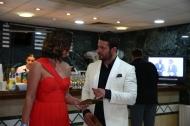 """Ο Γιώργος μαζί με την Αθηνά Νικολαϊδου, Εμπορική Διευθύντρια Καλλυντικών Ομίλου Folli Follie Κύπρου, με την οποία απένειμε το βραβείο """"Fashion Design της Χρονιάς"""" - 17 Απριλίου 2018 Φωτογραφία: ilovestyle.com"""