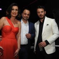 """Ο Γιώργος μαζί με την Αθηνά και τον Πανίκο Νικολαΐδη στο after party των βραβείων Madame Figaro """"Γυναίκες της χρονιάς"""" που έγινε στο State στη Λευκωσία - 17 Απριλίου 2018 Φωτογραφία: ilovestyle.com"""