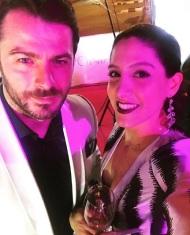 """Ο Γιώργος και η Παντελίτσα Ινιάτη στα 13α βραβεία Madame Figaro """"Γυναίκες της χρονιάς"""" που έγιναν στο Δημοτικό Θέατρο Στροβόλου στις 17 Απριλίου 2018 Φωτογραφία: iniati_p_ Instagram"""