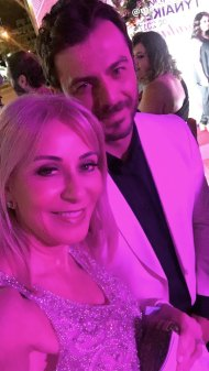 """Ο Γιώργος και η Νόνη Κυπριανού στα 13α βραβεία Madame Figaro """"Γυναίκες της χρονιάς"""" που έγιναν στο Δημοτικό Θέατρο Στροβόλου στις 17 Απριλίου 2018 Φωτογραφία: nonikyp Instagram"""
