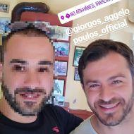 Ο Γιώργος μαζί με φαν στην Κρήτη, όπου βρέθηκε για το γύρισμα του διαφημιστικού της NAK Shoes στις 28 Απριλίου 2018 Φωτογραφία: dimitris_kitsakos Instagram
