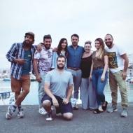 Ο Γιώργος μαζί με την ομάδα του διαφημιστικού για τη NAK Shoes στο Ηράκλειο Κρήτης - 28 Απριλίου 2018 Φωτογραφία: manoschalampalakis Instagram