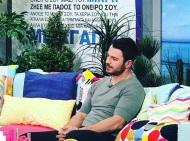"""Ο Γιώργος στην εκπομπή """"Με αγάπη Χριστιάνα"""" στις 3 Απριλίου 2018 Φωτογραφία: alphatvcyprus Instagram"""