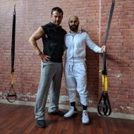Ο Γιώργος μαζί με τον ιδιοκτήτη του Athens G Center, Θοδωρή Ηλιάδη, όπου έγινε η φωτογράφιση για το περιοδικό You - 5 Απριλίου 2018 Φωτογραφία: iliadis_thodoris Instagram