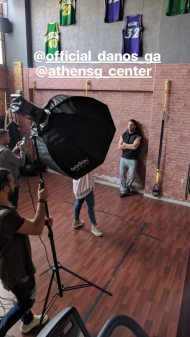 Ο Γιώργος κατά τη διάρκεια της φωτογράφισης για το περιοδικό You που έγινε στο Athens G Center - 5 Απριλίου 2018 Φωτογραφία: iliadis_thodoris Instagram
