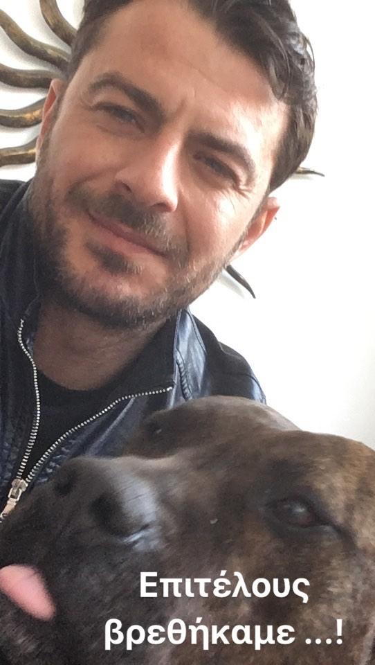 Ο Γιώργος μαζί με τον σκύλο του στη Σκιάθο στις 5 Απριλίου 2018 Φωτογραφία: official_danos_ga Instagram