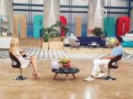 """Ο Γιώργος και η Φαίη κατά τη διάρκεια της συνέντευξης στην εκπομπή """"Πρωινό"""" στις 25 Μαΐου 2018 Φωτογραφία: toprwino_ant1 Instagram"""