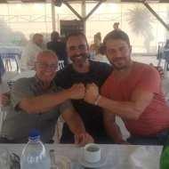Ο Γιώργος με φίλους στη Ρόδο στις 27 Μαΐου 2018 Φωτογραφία: Filippos Papastamatiou Facebook