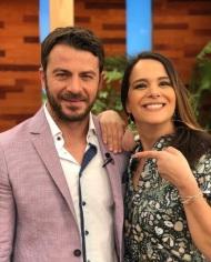Ο Γιώργος μαζί με την Ελιάνα Χρυσικοπούλου στο πλατό της Ελένης Μενεγάκη όπου βρέθηκε για συνέντευξη στις 4 Μαΐου 2018 Φωτογραφία: elianoula Instagram