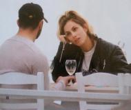 """Ο Γιώργος και η Ντορέττα στο εστιατόριο """"Σαρδελάκι"""" όπου βρέθηκαν στις 3 Μαρτίου 2018 Φωτογραφίες: Hello"""