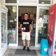 """Ο Γιώργος στον οικογενειακό φούρνο """"Ντάνος"""" στη Σκιάθο - 10 Ιουνίου 2018 Φωτογραφία: ιωαννης σουλτανης Facebook"""