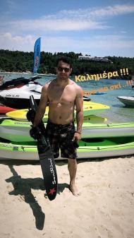 Ο Γιώργος στο Salto Water Sports στις Κουκουναριές στη Σκιάθο - 10 Ιουνίου 2018 Φωτογραφία: official_danos_ga Instagram