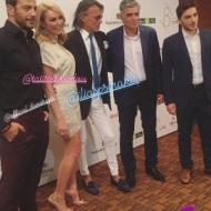 Ο Γιώργος με τους Τατιάνα Στεφανίδου, Ηλία Ψινάκη και Νίκο Ευαγγελάτο στο πάρτι του TLife που έγινε στο Galaxy Bar & Restaurant στο Hilton - 21 Ιουνίου 2018 Φωτογραφία: dimi_choo Instagram