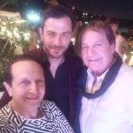 Ο Γιώργος με τον Σπύρο Μπιμπίλα και τον Κώστα Βενετσάνο στο πάρτι του TLife που έγινε στο Galaxy Bar & Restaurant στο Hilton - 21 Ιουνίου 2018 Φωτογραφία: spyrosmpimpilas Instagram