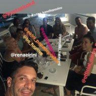 Ο Γιώργος μαζί με τον Χρανιώτη και φίλους στην Τήνο για τον γάμο του Χρανιώτη - 22 Ιουνίου 2018 Φωτογραφία: hraniotis_giorgos_official Instagram