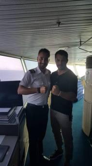 Ο Γιώργος Αγγελόπουλος καθ'οδόν για Τήνο - 22 Ιουνίου 2018