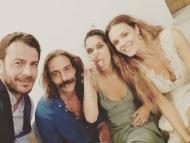 Ο Γιώργος μαζί με τη νύφη και καλεσμένους στην Τήνο για τον Γάμο Χρανιώτη - Αβασκαντήρας - 23 Ιουνίου 2018 Φωτογραφία: demetrius_philon Instagram