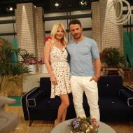 """Ο Γιώργος μαζί με τη Φαίη Σκορδά στην εκπομπή """"Το Πρωινό"""", όπου βρέθηκε για συνέντευξη στις 25 Μαΐου 2018 Φωτογραφία: elena_gerarhaki Instagram"""