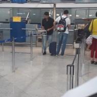 Ο Γιώργος στο αεροδρόμιο Ελευθέριος Βενιζέλος πριν αναχωρήσει για Σκιάθο στις 30 Ιουνίου 2018 Φωτογραφία: tlife