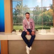 Ο Γιώργος στο πλατό της Ελένης Μενεγάκη όπου βρέθηκε για συνέντευξη στις 4 Μαΐου 2018 Φωτογραφία: elena_gerarhaki Instagram