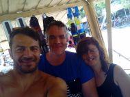 Ο Γιώργος με φανς στις Κουκουναριές στη Σκιάθο την 1η Ιουλίου 2018 Φωτογραφία: Πετρος Αποστολοπουλος Facebook