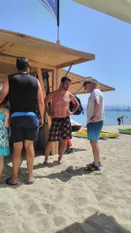 Ο Γιώργος στο Salto WaterSports στις Κουκουναριές την 1η Ιουλίου 2018 Φωτογραφία: Ράνια Πάνου Facebook