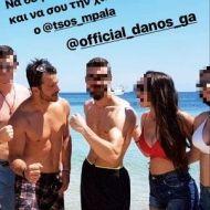 Ο Γιώργος με φανς στις Κουκουναριές στη Σκιάθο την 1η Ιουλίου 2018 Φωτογραφία: lialytra Instagram