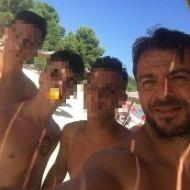 Ο Γιώργος με φανς στο Salto WaterSports στις Κουκουναριές Σκιάθου - 21 Ιουλίου 2018 Φωτογραφία: h_theodoridis Instagram