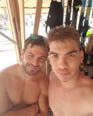Ο Γιώργος με φαν στο Salto WaterSports στις Κουκουναριές Σκιάθου - 21 Ιουλίου 2018 Φωτογραφία: ilias_mpamas Instagram