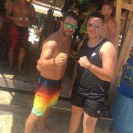 Ο Γιώργος με φαν στο Salto WaterSports στις Κουκουναριές Σκιάθου - 21 Ιουλίου 2018 Φωτογραφία: konstadinos_kanellopoulos Instagram