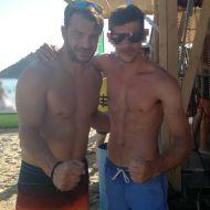 Ο Γιώργος με φαν στο Salto WaterSports στις Κουκουναριές Σκιάθου - 21 Ιουλίου 2018 Φωτογραφία: kostaskaranasios Instagram