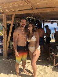 Ο Γιώργος με φαν στο Salto WaterSports στις Κουκουναριές Σκιάθου - 21 Ιουλίου 2018 Φωτογραφία: mkoutra_ Instagram