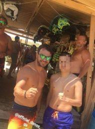 Ο Γιώργος με φαν στο Salto WaterSports στις Κουκουναριές Σκιάθου - 21 Ιουλίου 2018 Φωτογραφία: panagiwths_mix Instagram
