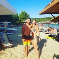 Ο Γιώργος με φαν στο Salto WaterSports στις Κουκουναριές Σκιάθου - 21 Ιουλίου 2018 Φωτογραφία: roula_s_k Instagram