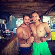 Ο Γιώργος με φαν στο Salto WaterSports στις Κουκουναριές Σκιάθου - 21 Ιουλίου 2018 Φωτογραφία: thomassakkas Instagram