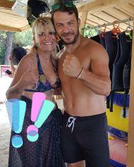 Ο Γιώργος με φαν στο Salto WaterSports στις Κουκουναριές Σκιάθου - 22 Ιουλίου 2018 Φωτογραφία: artemisntotsika Instagram