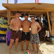 Ο Γιώργος με φαν στο Salto WaterSports στις Κουκουναριές Σκιάθου - 22 Ιουλίου 2018 Φωτογραφία: epas_loukas Instagram
