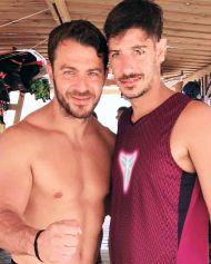 Ο Γιώργος με φαν στο Salto WaterSports στις Κουκουναριές Σκιάθου - 22 Ιουλίου 2018 Φωτογραφία: giorgos_tsamaris Instagram