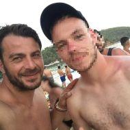 Ο Γιώργος με φαν στο Salto WaterSports στις Κουκουναριές Σκιάθου - 22 Ιουλίου 2018 Φωτογραφία: ziagkas Instagram