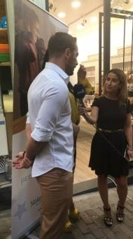Ο Γιώργος στην εκδήλωση της La Vie en Rose για τα δύο χρόνια λειτουργίας στις 7 Ιουλίου 2018 Φωτογραφία: _danos_for_ever__ Instagram