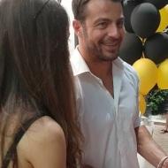 Ο Γιώργος στην εκδήλωση της La Vie en Rose για τα δύο χρόνια λειτουργίας στις 7 Ιουλίου 2018 Φωτογραφία: giwrgosaggelopoulosfp Instagram
