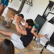 Ο Γιώργος μαζί με τον μικρό Άγγελο από τη Δράμα, ο οποίος ευχήθηκε να γνωρίσει τον Γιώργο από κοντά - 9 Ιουλίου 2018 Φωτογραφία: makeawish.gr