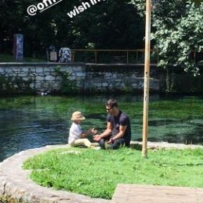 Ο Γιώργος στη Δράμα για την εκπλήρωση της ευχής του μικρού Άγγελου - 9 Ιουλίου 2018 Φωτογραφία: makeawish.greece Instagram