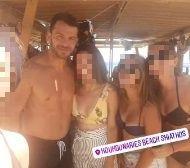 Ο Γιώργος μαζί με φανς στις Κουκουναριές στη Σκιάθο - 4 Αυγούστου 2018 Φωτογραφία: _arethmer Instagram