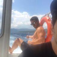 Ο Γιώργος στις Κουκουναριές στη Σκιάθο στις 4 Αυγούστου 2018 Φωτογραφία: panosgi Instagram