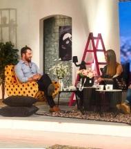 """Ο Γιώργος κατά τη διάρκεια της συνέντευξής του στην εκπομπή """"Όλα Καλά"""" στις 12 Οκτωβρίου 2018 Φωτογραφία: olakala_sigmatv Instagram"""